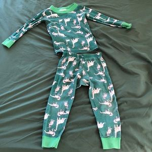 Hanna Andersson Dino PJs - Size 90 (3T)
